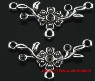 Free ship 10pcs tibetan silver flower connectors 32mm