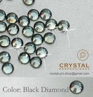 1440 Black Diamond ss6 Iron Hotfix Rhinestones 2mm 6ss