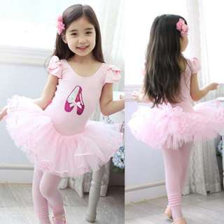 Pink Dress on Girls Pink Party Leotard Ballet Tutu Skirt Dress Dance