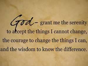 GOD SERENITY CHANGE WISDOM Vinyl Wall Decal Quote NEW