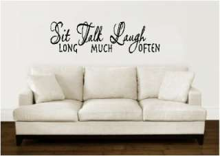 Sit Talk Laugh Wall Words Stickers Vinyl Letters Decal
