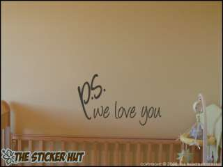 we love you Wall Words Stickers Decals 240