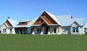 TEXAS Hill Country Style HOUSE PLANS #3750