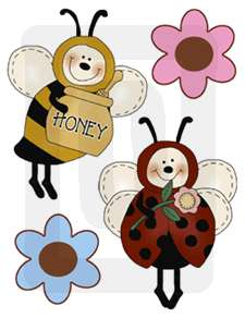 BEES HIVE BABY GIRL NURSERY WALL STICKERS DECALS