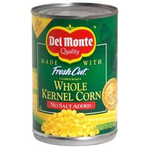 Del Monte Fresh Cut Golden Sweet Whole Kernel Corn, No Salt Added , 15