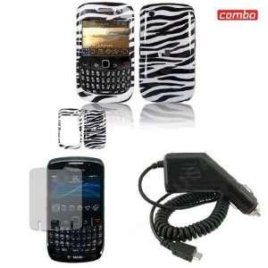 /Curve 8530 combo Black/White Zebra Design Protective Case Faceplate