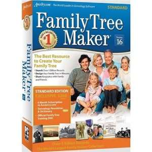 Tree Maker Version 16 Standard Sb Cs By Family Tree Maker Software