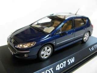 43 Norev Peugeot 407 SW (blue) diecast