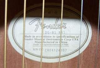 FENDER DG 8S NAT ACOUSTIC GUITAR w/HARDSHELL CASE Nice!!
