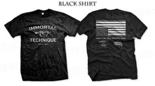 Immortal Technique Black White T Shirt S M L XL 2XL 3XL jedi mind