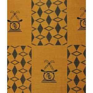 African Fancy Print Swords On Brown Fabric: Arts, Crafts