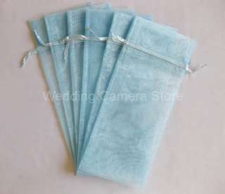 12 blue Organza Bags  Bottle/Wine bags, Gift bags 6x14