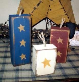 PRIMITIVE AMERICANA BLOCK SIGN~~FIREWORKS~~STARS~~4TH OF JULY~~
