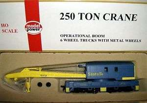 model power HO scale SANTE FE 250 TON DELUXE CRANE RTR