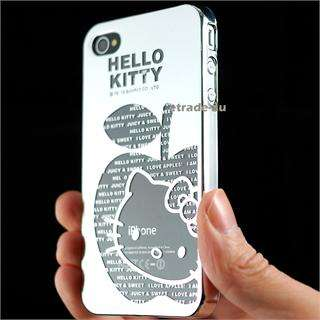 Cute Silver Mirror Hello Kitty Chrome Hard Case for iPhone 4