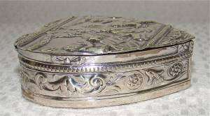 RARE HANAU ANTIQUE TRINKET/SNUFF/PILL BOX holder~SOLID STERLING SILVER