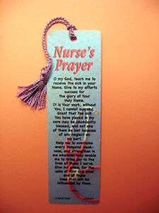 Prayer Poem on a Tassel Bookmark (mauve tassel) Sku# 547