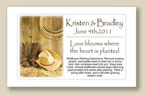 Country & Western Wedding or Bridal Shower Seed Packets