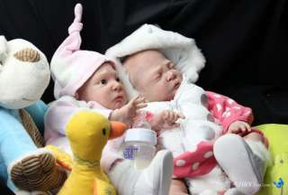 HBN* Reborn Baby PROTOTYPE Twins Laura Lee Eagles ~ ASLEEP~