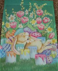 12.5x18 INCH EASTER PAINTER THE BUNNY EASTER BUNNY COLORS SMALL GARDEN