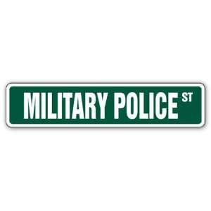 MILITARY POLICE Street Sign army mp air force guard: Patio