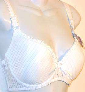 ONE BRA #6687 White STRIPE TRIMED UNDERWIRE NEW 42DD