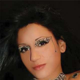 Xotic Eyes Black Widow Kit Re Usable Acrylic Adhesive Costume Makeup