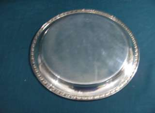 Rogers Mfg,Silver Plate Tupperware Rose Round Tray 1955 |