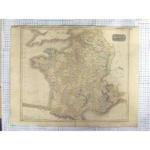 THOMSON ANTIQUE MAP 1814 FRANCE BAY BISCAY PYRENEES Home & Kitchen