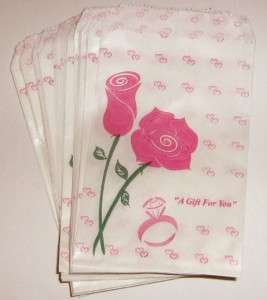 description pink rose paper gift bags size 4 x 6 quantity 100 pieces