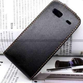 Black Flip Leather Case Cover for HTC DESIRE Z