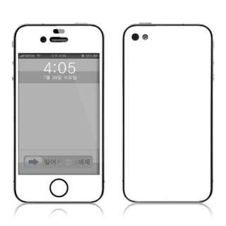 Apple iPhone4 Full Body Vinyl Skin Sticker Cover White