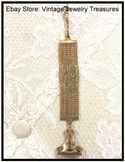 Antique Victorian Gold Filled? Wax Seal~Watch Fob Chain