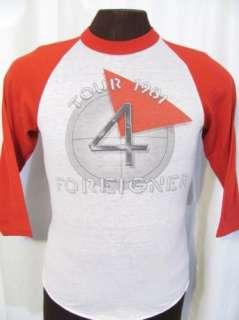 FOREIGNER 1981 CONCERT TOUR 80s retro jersey rock t shirt S