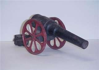 AMERICAN CIVIL WAR TOY CAST IRON CANNON LARGE RED WHEELS 15