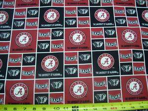 UNIVERSITY OF ALABAMA   CRIMSON TIDE  BTY   SQUARES