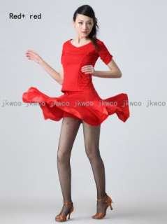 New ballroom latin dance dress big flouncing dance costume blouse