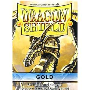 Dragon Shield Card Supplies YUGIOH Card Sleeves Gold 50