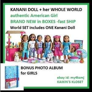 American Girl Doll KANANIS WHOLE WORLD shave ice stand luau outfit