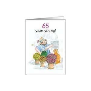 65th Birthday Card for a Man   Jolly Gardener Card: Toys