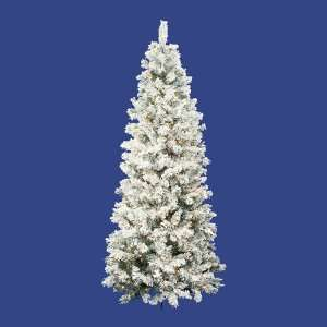 Alaskan Slim Artificial Christmas Tree   Clear Lights