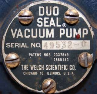 Welch Scientific Duo Seal Vacuum Pump