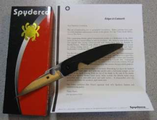 NEW Spyderco C153GP Folder Folding Knife Des Horn African Custom