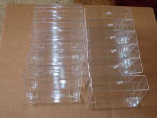 Clear plastic display boxes. Case.Showcase. Lot of 12.