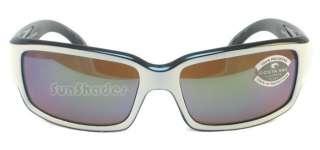 NEW COSTA DEL MAR CABALLITO CL30 WHITE GREEN 580 GLASS