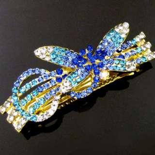 ADDL Item , 1pc rhinestone crystal dragonfly hair