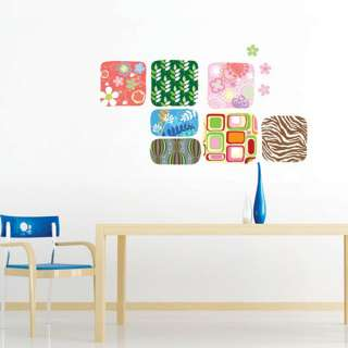 Square Pattern Adhesive Removable WALL STICKER DECAL