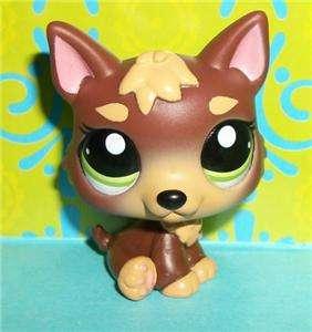 Pet Shop~#2137 CHOCOLATE BROWN GERMAN SHEPHERD PUPPY DOG~P197 LPS New