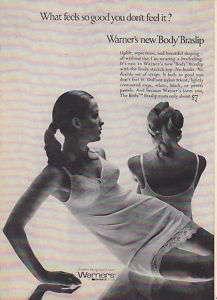 1969 WARNERS BODY BRASLIP BRA SLIP Vintage Print Ad