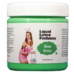Ammonia Free Liquid Latex Body Paint   4oz Neon Green